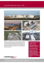 The lng process from Ledwood involves liquefied natural gas installations worldwide